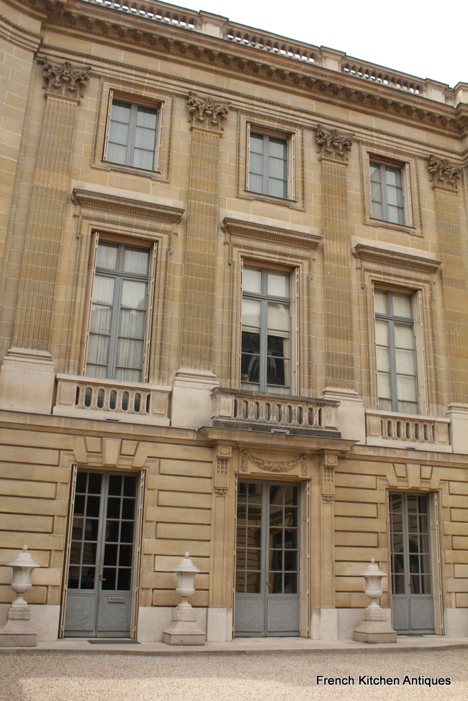View of the facade from the courtyard of the Musée Nissim de Camondo